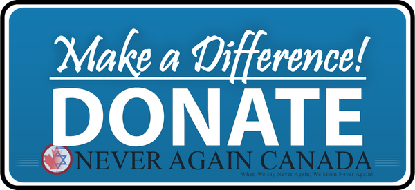 Donate to Never Again Canada!