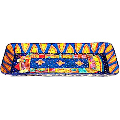Long Paper Mache Serving Tray - Jerusalem