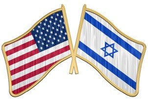 Israel-USA flag Lapel pin