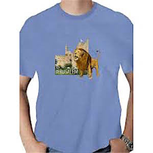 Jerusalem T-Shirt - Lion. Variety of Colors
