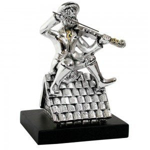 Silver Fiddler on the Roof Statuette