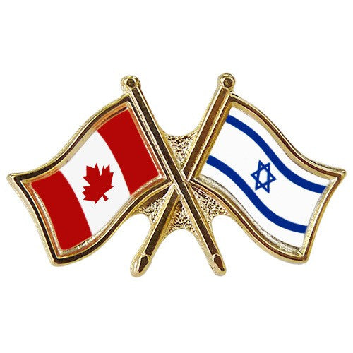 Canada/Israel  Friendship  Crossed Pin