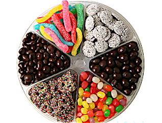 Six Section Candy Platter