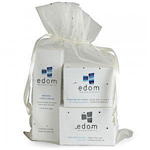 Edom Spa Kit: Mineral Hand Cream, Hydrating Day Cream, Shea Body Butter