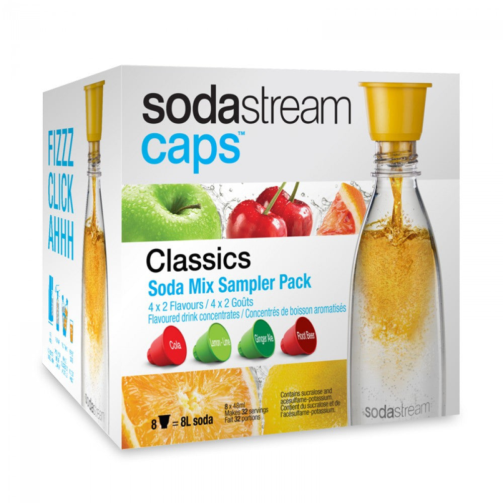 SodaStream Caps Classics Soda Mix Sampler Pack