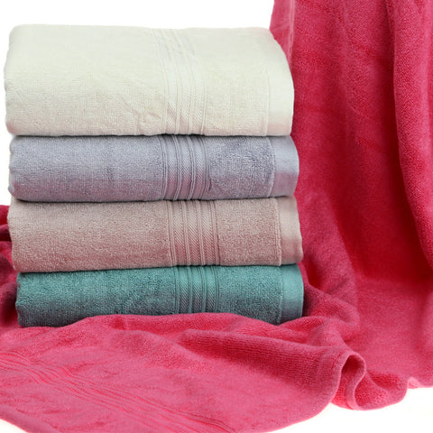 Bamboo Bath Towel in Solid Color, Long and Heavy