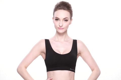 Bamboo Sports Bra in Black