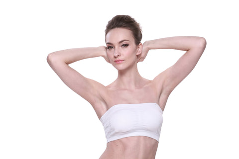 Bamboo Strapless Bra in White or Black