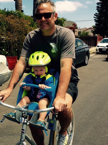 Dad and Baby on a bike