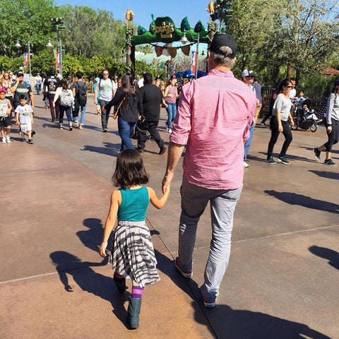 Dad and Daughter Disneyland