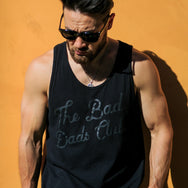 """BAD DADS"" TILTED LOGO BLACKOUT TANK"