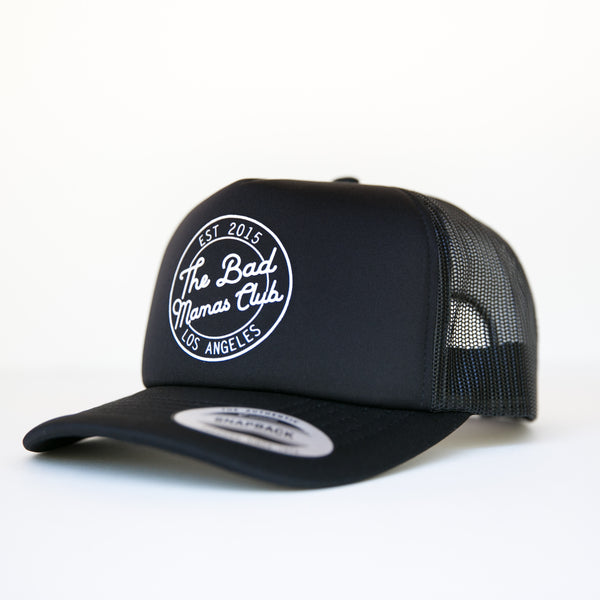 BAD MAMAS CIRCLE LOGO TRUCKER SNAPBACK