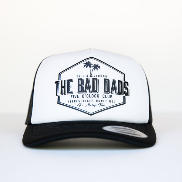BAD DADS FIVE O'CLOCK CLUB TRUCKER SNAPBACK-WHITE