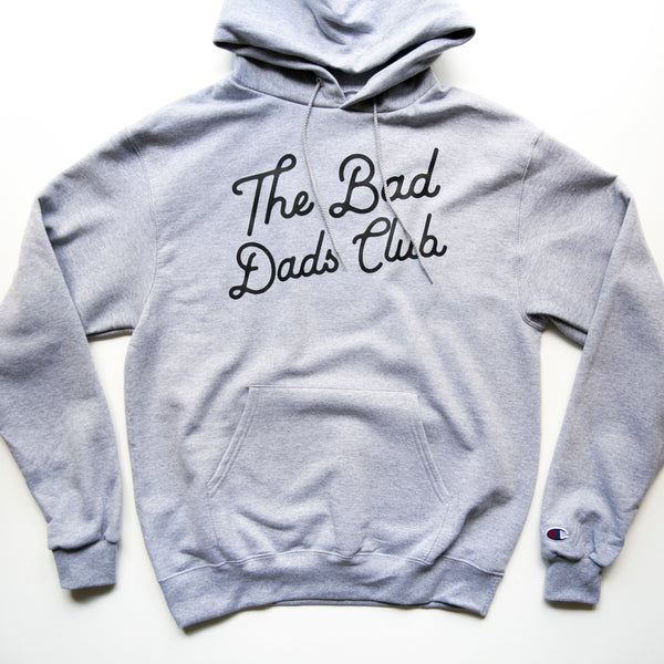 BAD DADS CLASSIC TILT CHAMPION HOODIE- GRAY