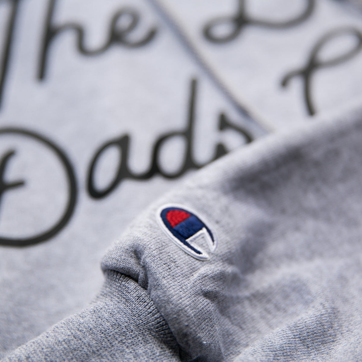 """BAD DADS"" TILTED X CHAMPION Gray Hoodie"
