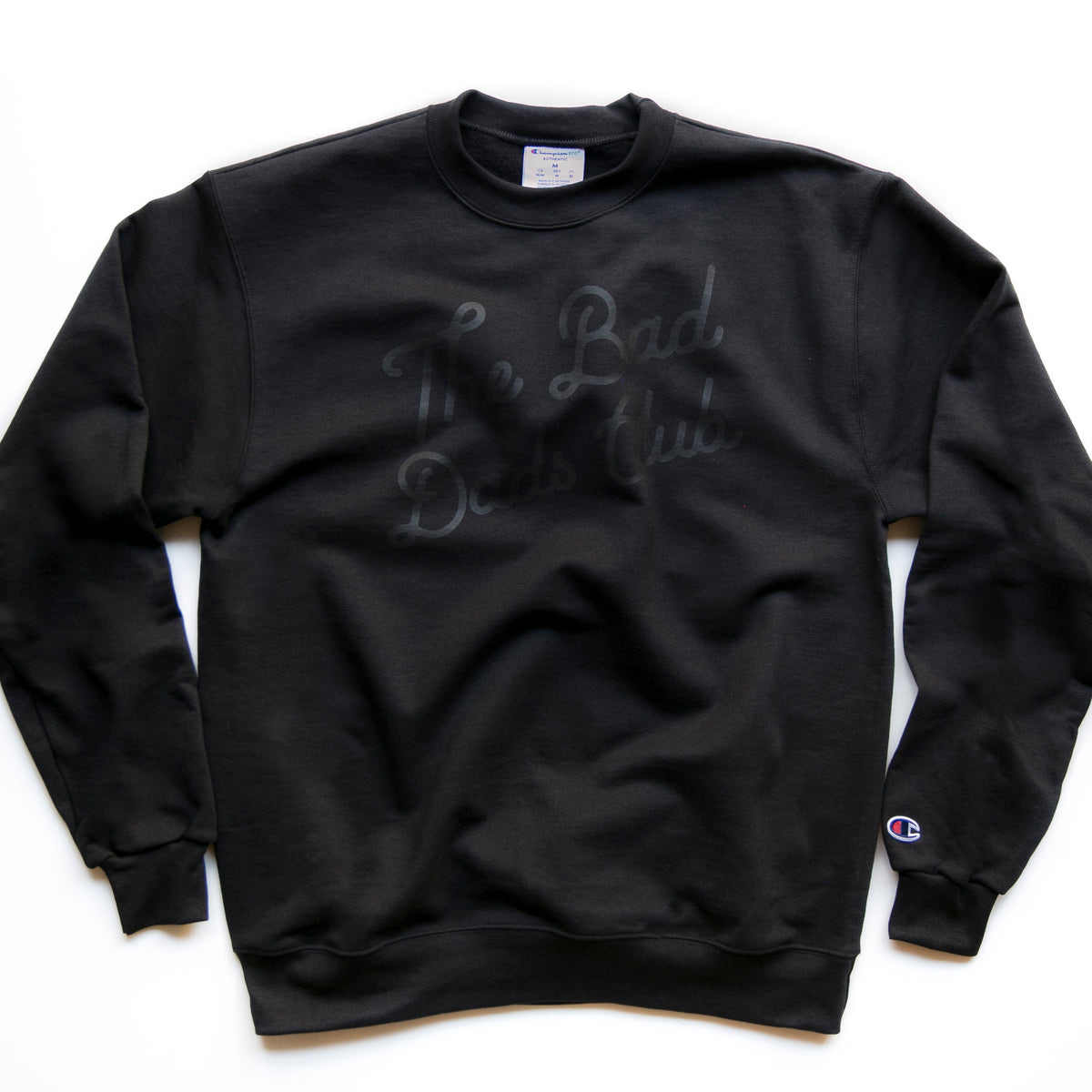 """The Bad Dads Club"" X CHAMPION Blackout Sweatshirt"