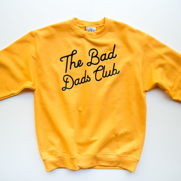 "2020 FALL EDITION ""Bad Dads Club"" X CHAMPION Gold Sweatshirt"