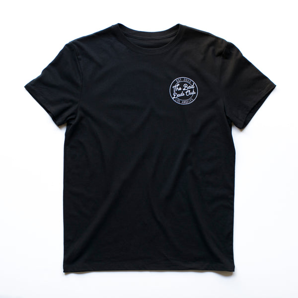 BAD DADS CIRCLE LOGO T-SHIRT- BLACK