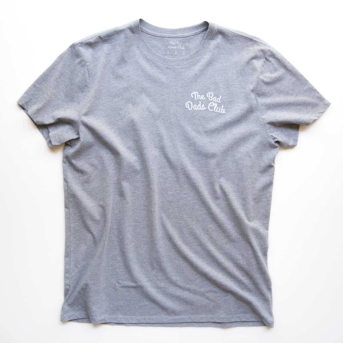 """THE BAD DADS CLUB"" DOUBLE ARCH LOGO TEE GRAY"