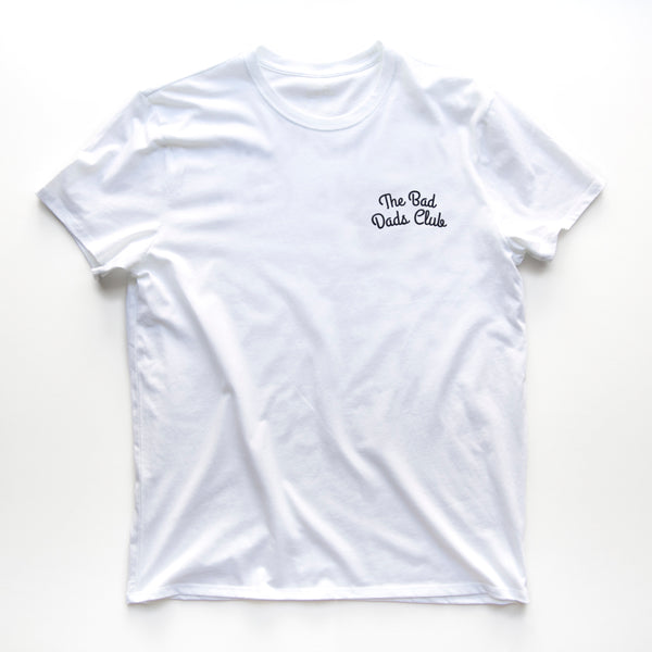 THE BAD DADS CLUB DOUBLE ARCH LOGO T-SHIRT WHITE