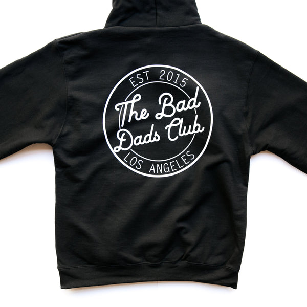 BAD DADS CHAMPION CIRCLE LOGO HOODIE- BLACK