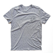 BAD DADS Circle Logo T-Shirt GRAY TRIBLEND