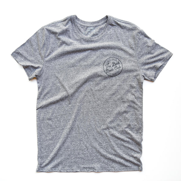 BAD DADS CIRCLE LOGO T-SHIRT- GRAY TRIBLEND
