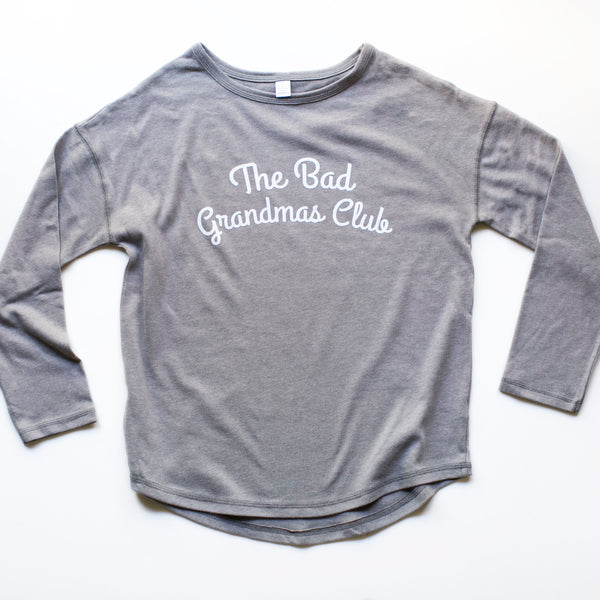 BAD GRANDMAS SWEATER- GRAY