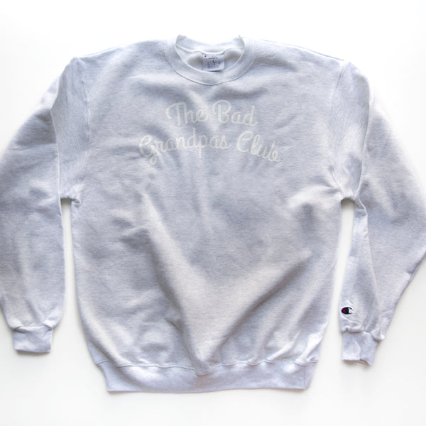 BAD GRANDPAS CHAMPION SWEATSHIRT- GRAY