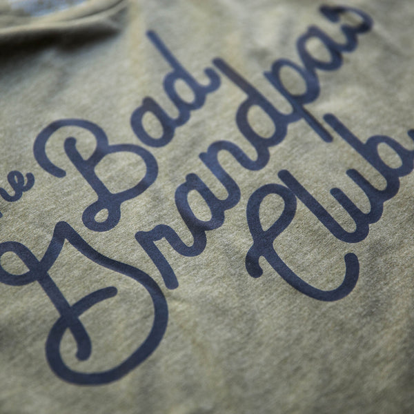 BAD GRANDPAS CLASSIC TILT T-SHIRT- ARMY GREEN