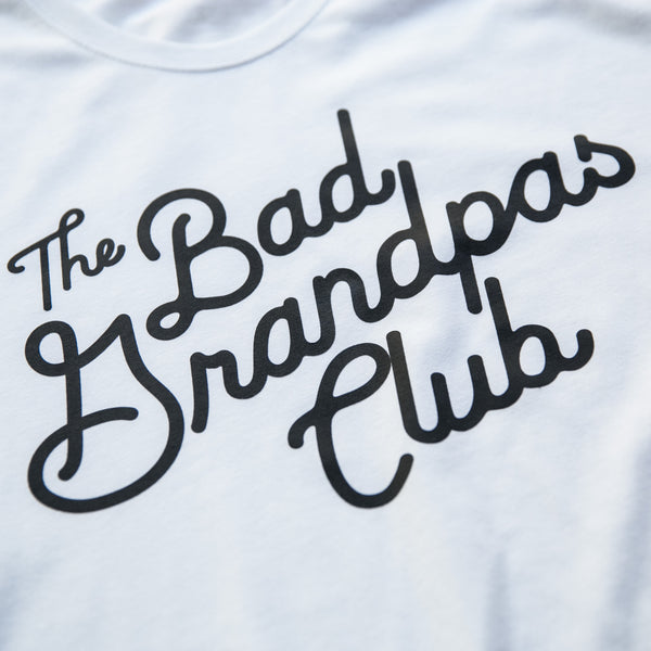 BAD GRANDPAS Classic Tilt T-Shirt WHITE