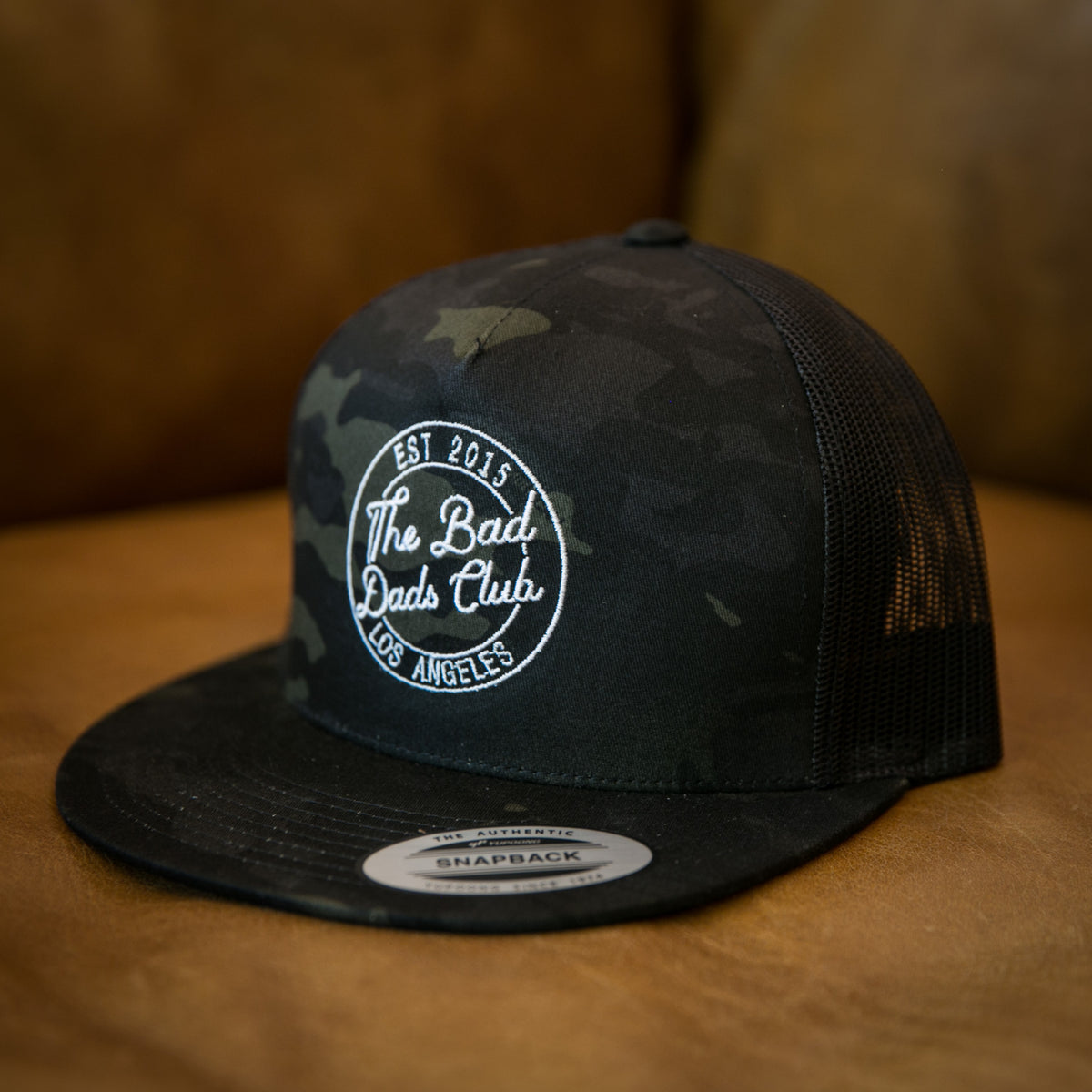 Bad Dads BLACK CAMO CIRCLE Snapback