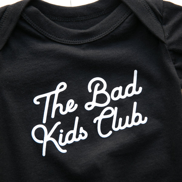 BAD KIDS ONESIE- BLACK
