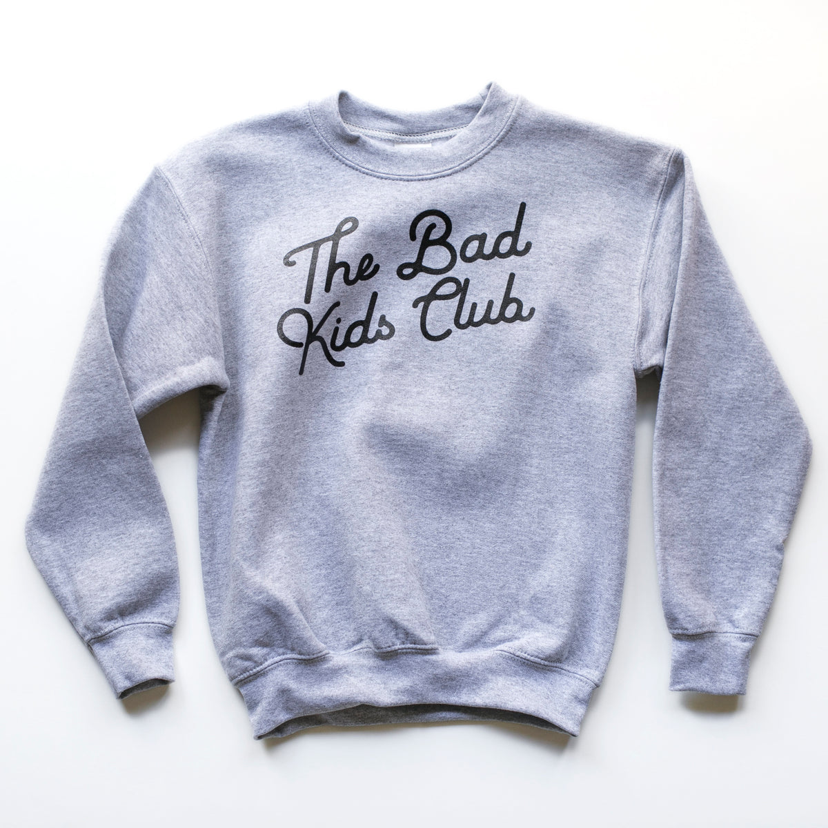 """THE BAD KIDS CLUB"" CREW SWEATSHIRT (GRAY)"