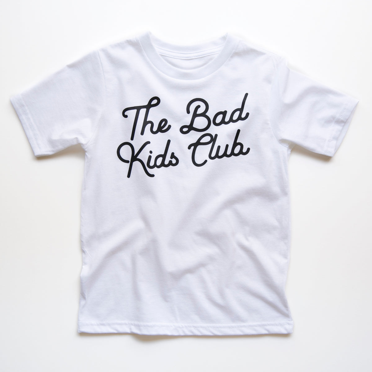 """The Bad Kids Club"" WHITE LOGO TEE"