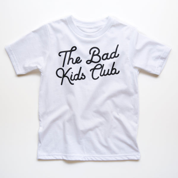 BAD KIDS CLASSIC TILT T-SHIRT- WHITE