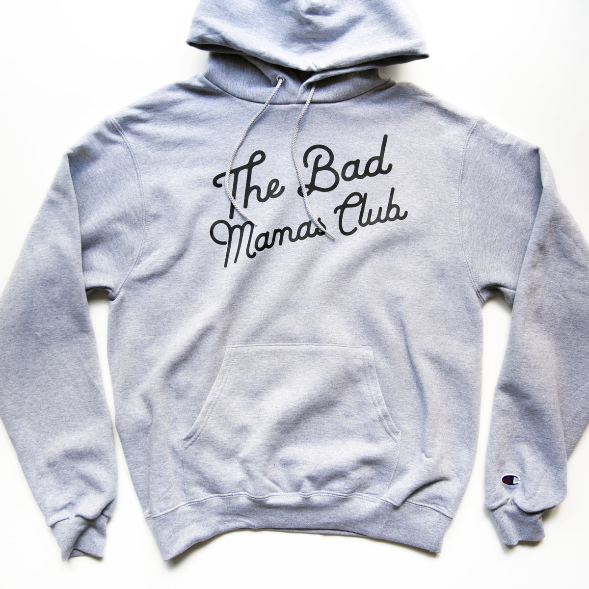 """The Bad Mamas Club"" x CHAMPION Gray Hoodie"