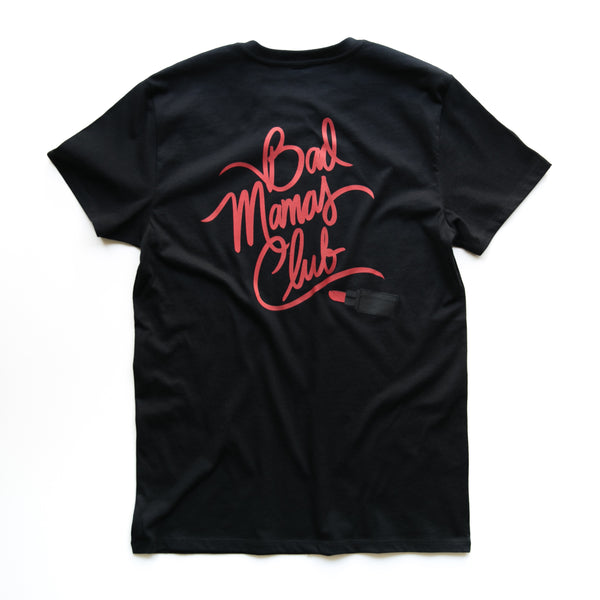 "BAD MAMAS ""LIPSTICK"" BLACK TEE"