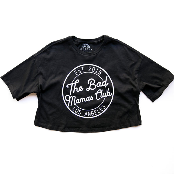 BAD MAMAS CIRCLE LOGO CROP T-SHIRT
