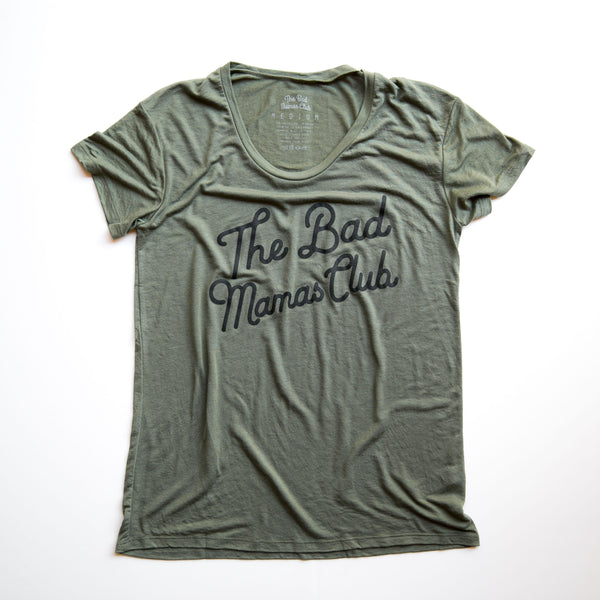 BAD MAMAS CLASSIC TILT T-SHIRT - ARMY GREEN