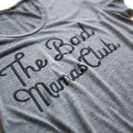 BAD MAMAS CLASSIC TILT T-SHIRT- GRAY