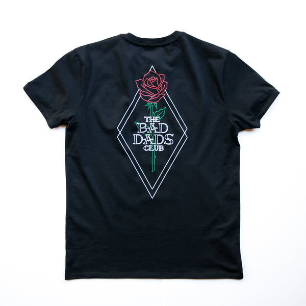 BAD DADS NEW ROSE T-SHIRT- BLACK