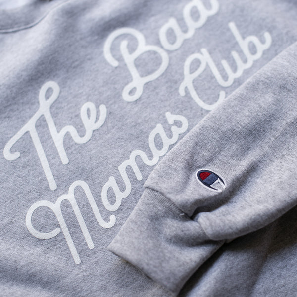"""The Bad Mamas Club"" x CHAMPION Sweatshirt (GRAY) - THE BAD DADS CLUB"