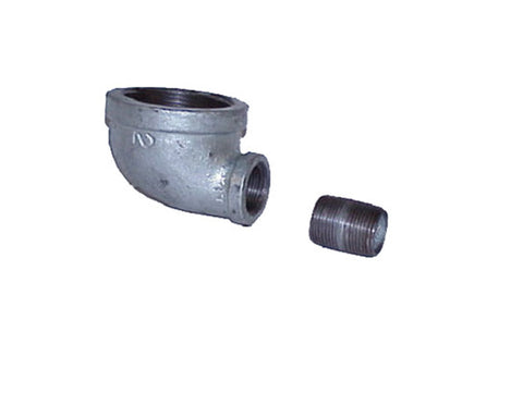 "Cast-iron EL Fitting for Mounting Drum Vent No. 08101 or 08005 in 3/4"" End Drum Opening - SolventWaste.com"