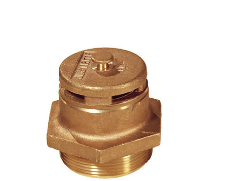 "Brass Vertical Vent for petroleum based applications, 2"" bung opening - SolventWaste.com"