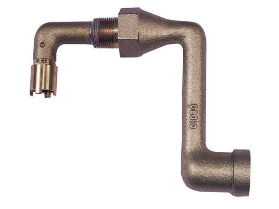 Brass Drum Siphon Adapter for draining 30 and 55-gallon drums - SolventWaste.com