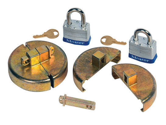 "Drum Lock Set for Plastic Drums, 2 units fit 2"" bung, 2 lock bars. 2 padlocks - SolventWaste.com"
