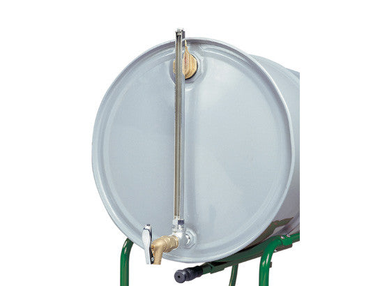 Cast-iron Horizontal Fill Drum Gauge No. 08532 with self-closing faucet No. 08902 - SolventWaste.com