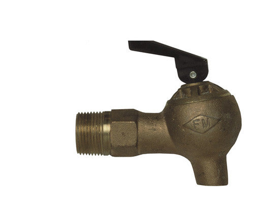 "Brass Control Flow Lab Safety Faucet, 3/4"" NPT bung - SolventWaste.com"