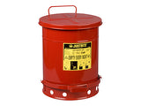 Oily Waste Can, 10 gallon (34L), foot-operated self-closing cover - SolventWaste.com